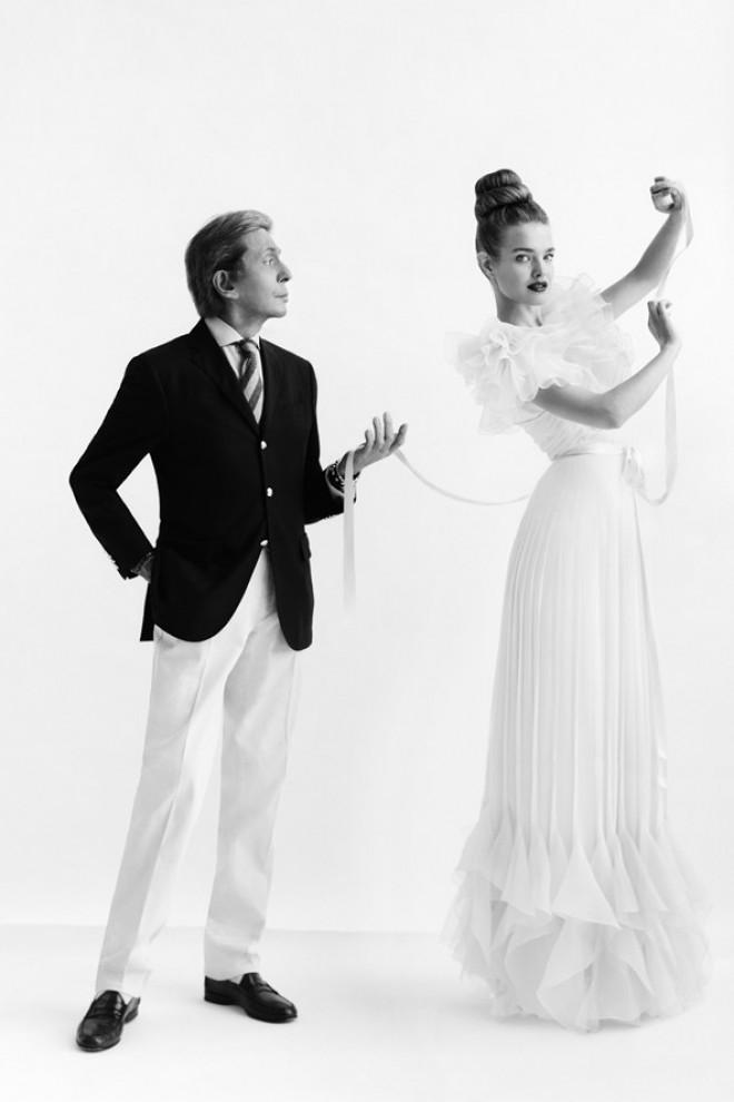 Valentino Garavani and Natalia Vodianova, 2012 © Cathleen Naundorf