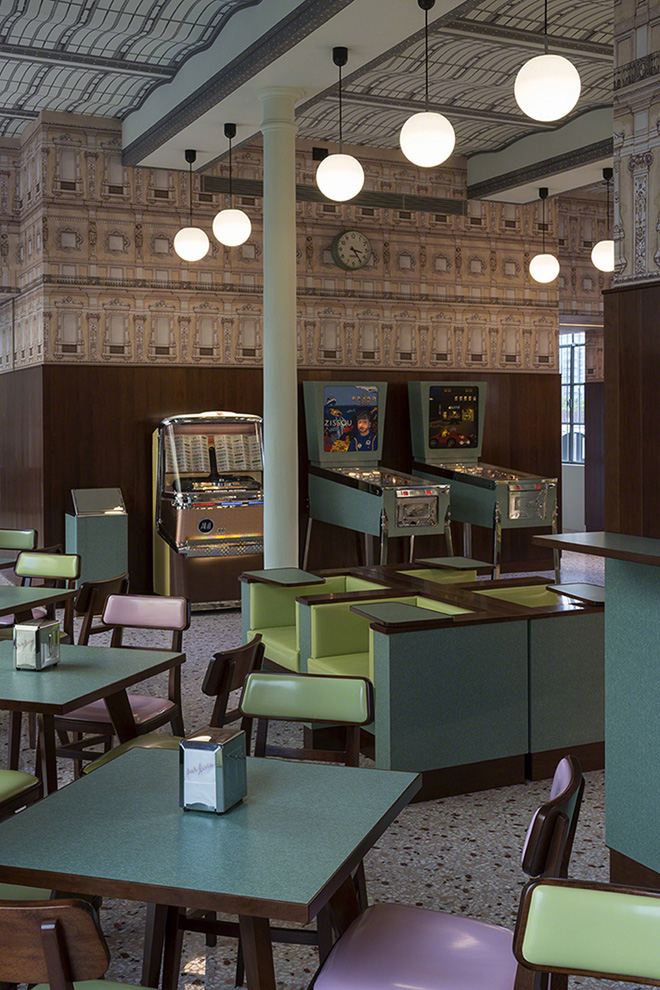 Prada's Wes Anderson-Designed Bar in Milan