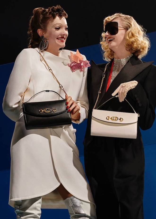e6105d44d1e The bag is also included in fun Gucci strawberry prints in the medium top  handle and mini shoulder versions. To shop visit Gucci.