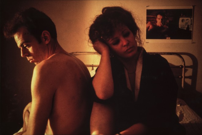 Nan Goldin, Self-Portrait in Kimono with Brian, NYC, 1983.