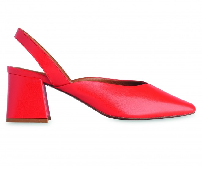 Leather Block Heel-Red_03
