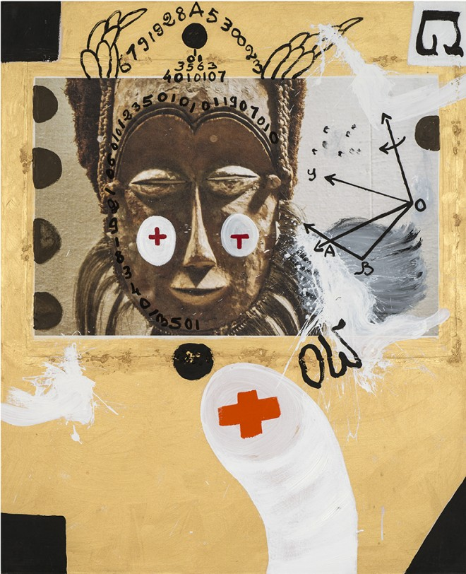 Ouattara Watts, After rain, 2017, Mixed media on canvas, 182 x 160 cm. Courtesy Primo Marella Gallery